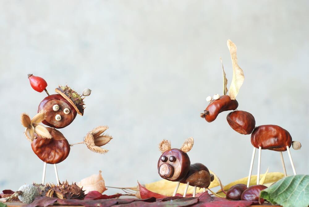 Zvieratká z gaštanov