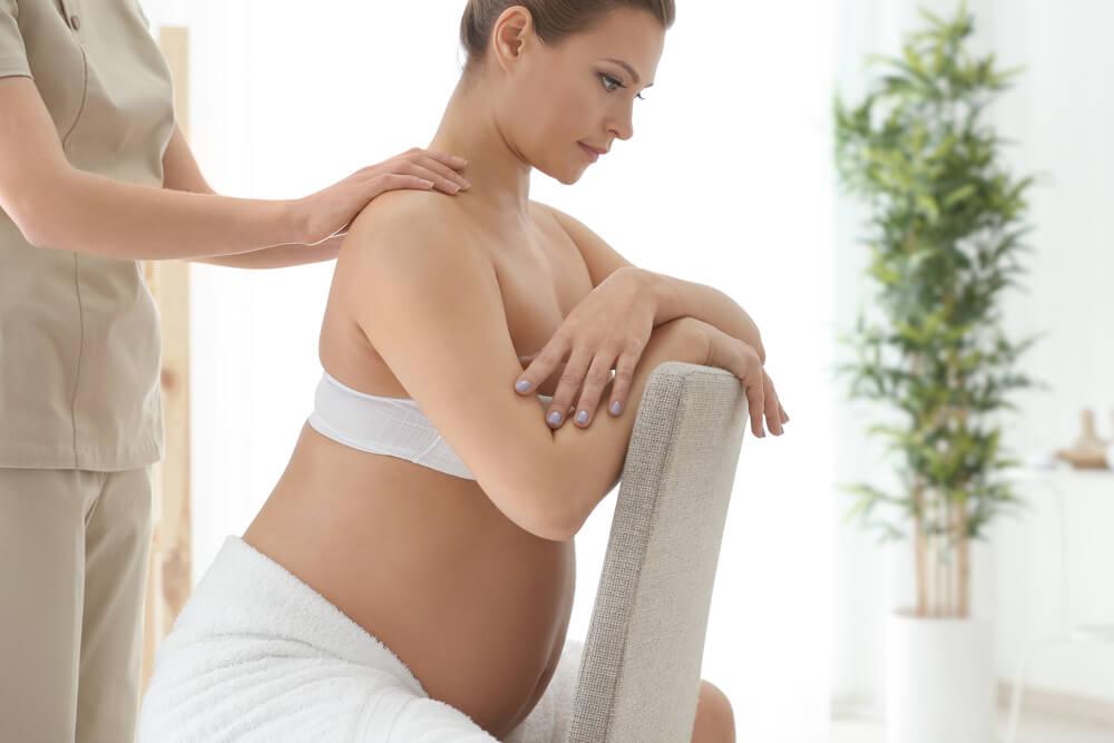 masáž v tehotenstve