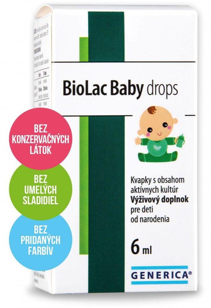 dovolenkujte s BioLac Baby drops